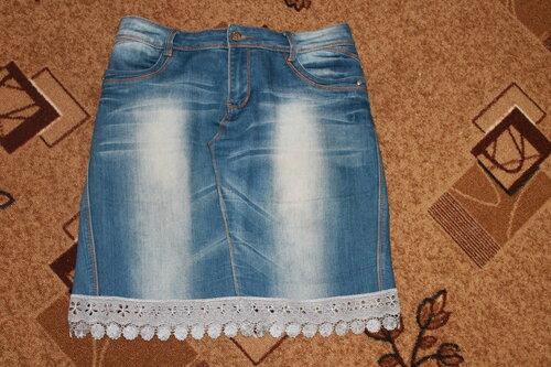 Как самостоятельно сшить джинсовую юбку 68