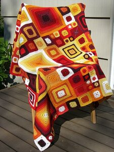 плед/коврик/покрывало из разноцветных квадратов