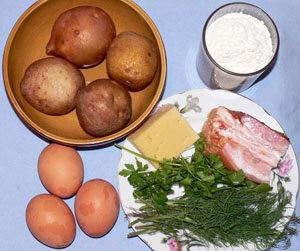 Картофельные оладьи или деруны с сюрпризом. Продукты