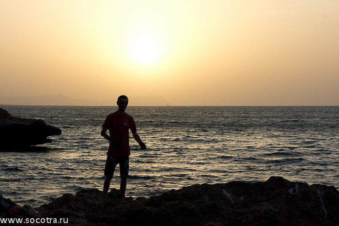 Фотографии Сокотры, возле столицы Хадибо, закат