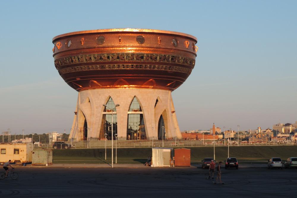 В Казани популярная двухуровневая смотровая площадка в форме чаши располагается в центре семьи «Каза