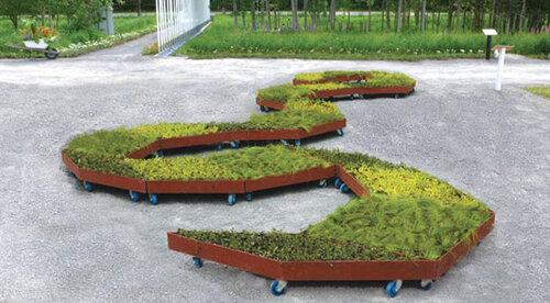 Ромбовидные сады на колесах