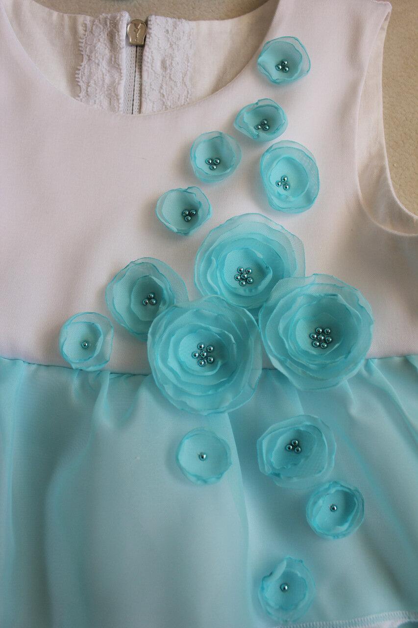 украшение цветочки из органзы