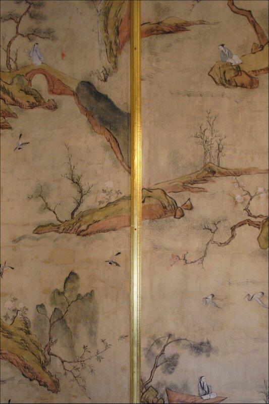 Дворец Меншикова, фрагмент отделки стен