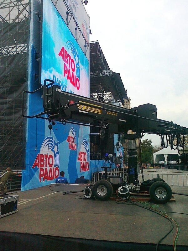 Подготовка сцены к концерту Машины времени