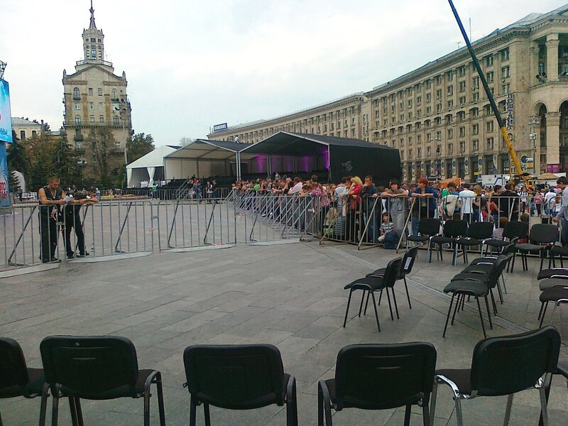 Места для вип-зрителей на концерте Машины времени