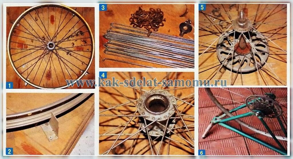 как отремонтировать велосипедное колесо