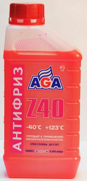 Антифриз AGA красный готовый -40 (1л) Z40