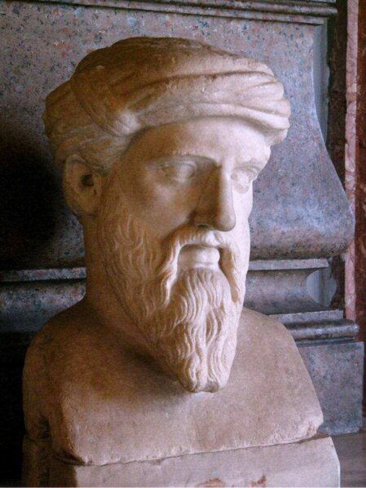 Пифагор Самосский. (Бюст.Капитолийский музей в Риме).Формат JPG