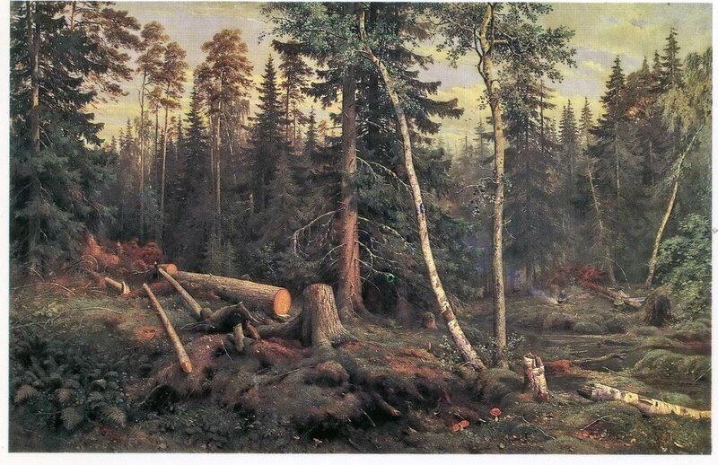 003. Шишкин 003. Рубка леса. 1867