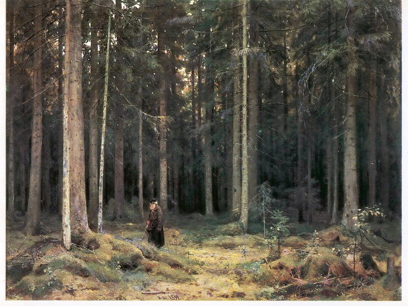 007. Шишкин 003. В лесу графини Мордвиновой. 1891