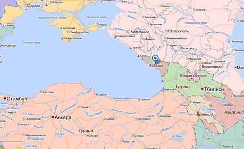 Карта Мыср Абхазия