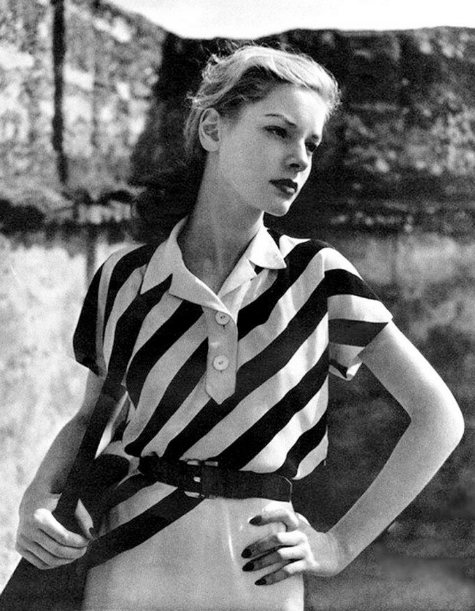 1943. Лорен Бэколл снимается для журнала Harper's Bazaar,
