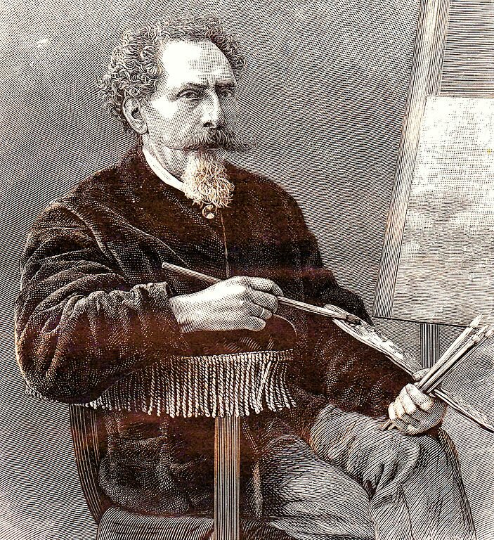 Portrait of Dutch painter Salomon Leonardus Verveer (1813-1876)