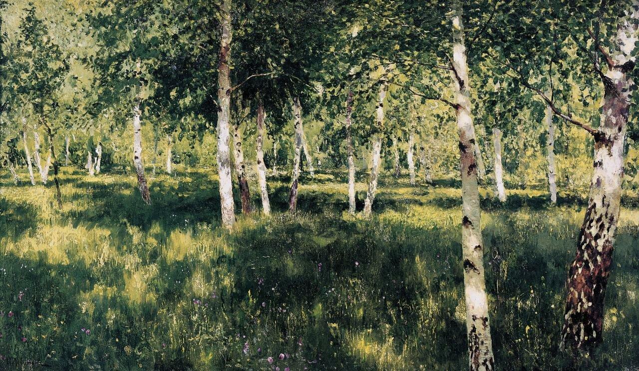 Левитан Исаак Ильич, Берёзовая роща (1885—1889)