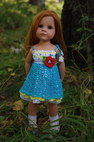 Сарафан крючком для куклы