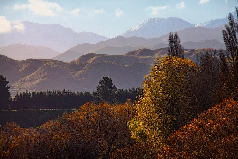 Осенний волнистый пейзаж