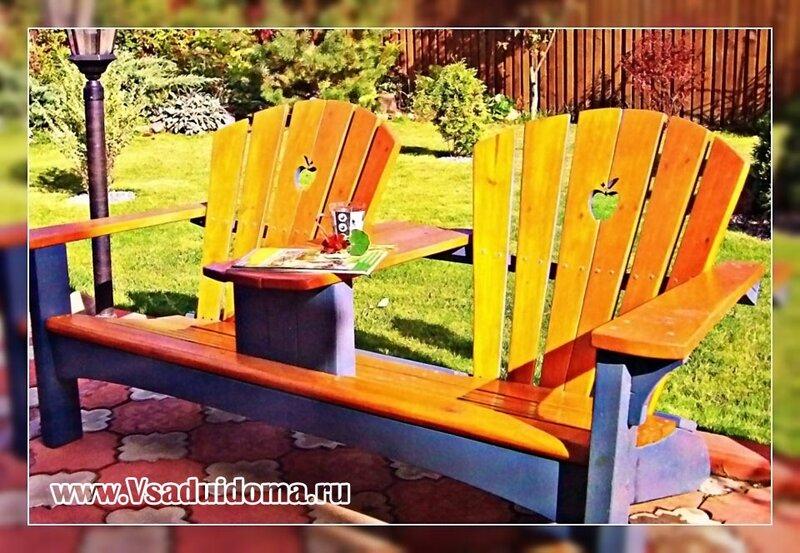 Как сделать самому скамейку садовую
