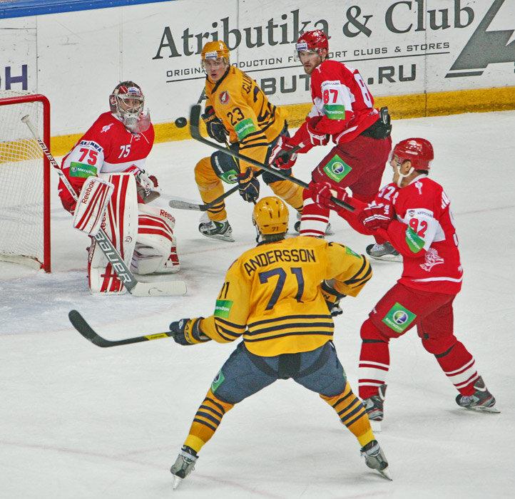 «Спартак» vs «Атлант» 2:5 чемпионат КХЛ 2012-2013 (Фото)
