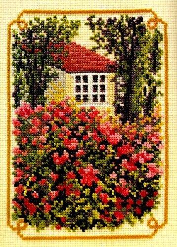 Вышивка - Домик в деревне - от 1000 Mailles L2048 20. alyona.merletto. идея. схема для вышивки. вышивка крестиком.