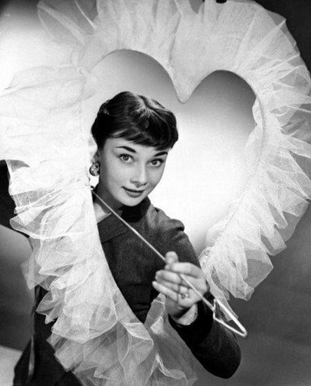 Audrey Hepburn with Heart and Arrow