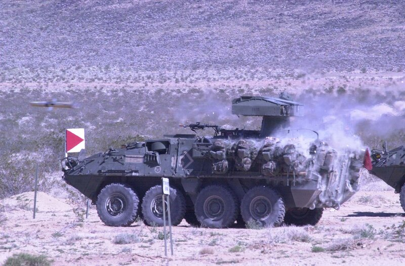 SBCT soldiers fire TOW II missiles at NTC