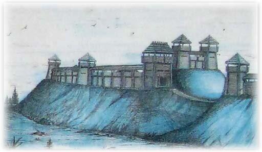 Реконструкция деревянного городища земгалов в Добеле