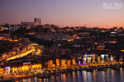 sunset in Oporto