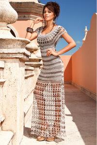 Секрет Клеопатры-платье крючком