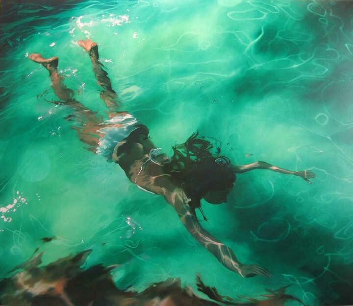 Sarah Harvey. Девушка под водой 23