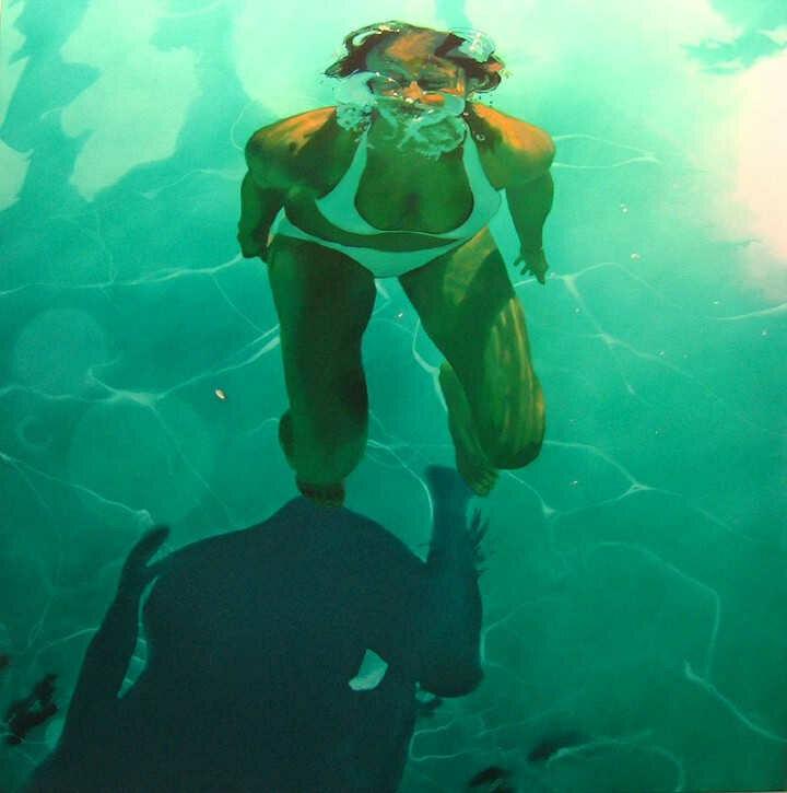 Sarah Harvey. Девушка под водой 5