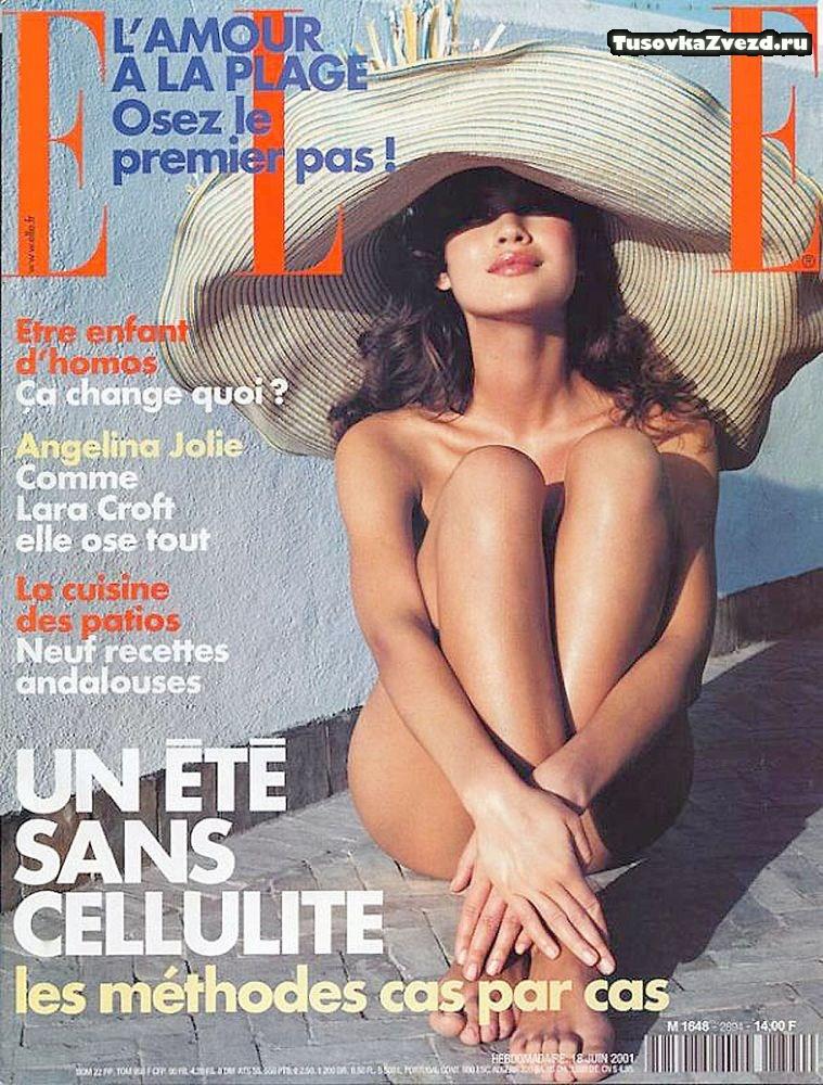 Ольга Куриленко голая, фото сессия для журнала Elle Франция, июнь 2001
