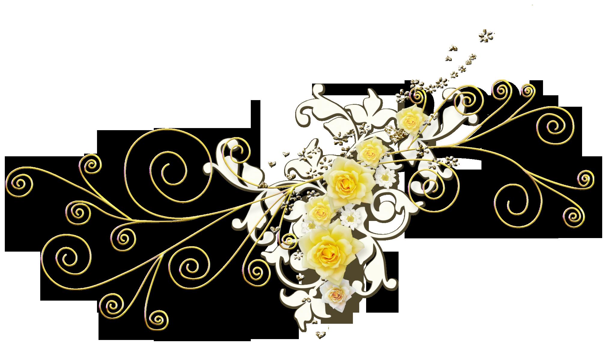 Цветы, украшение на открытку рисунок