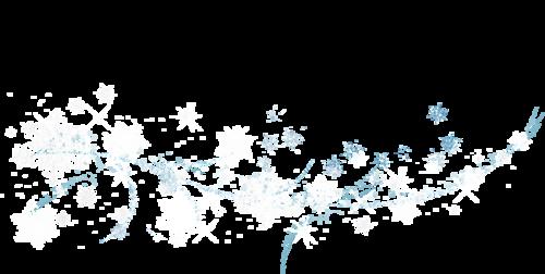 снежинки летят
