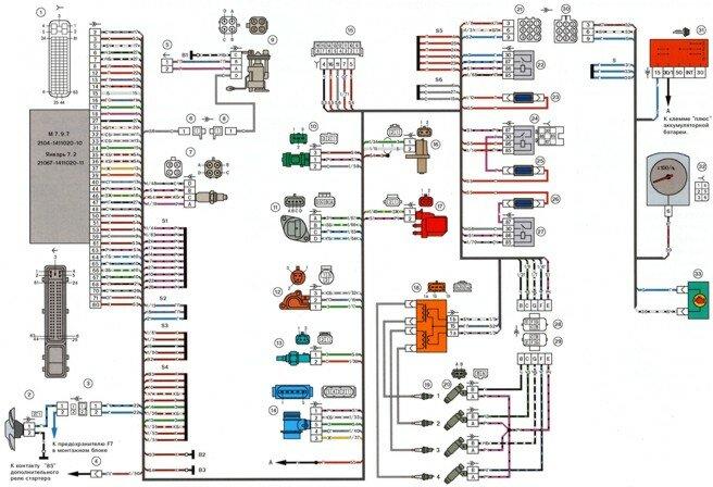 Инжектор Схема электрических