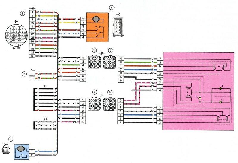 "Схема электрооборудования ВАЗ-1118  ""Калина "" ."