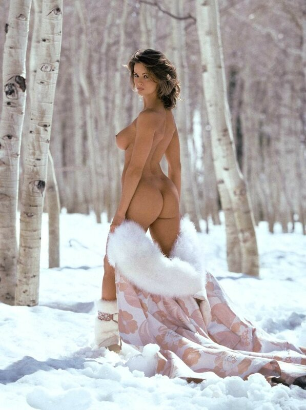 Snow Girl Karen McDougal in Playboy