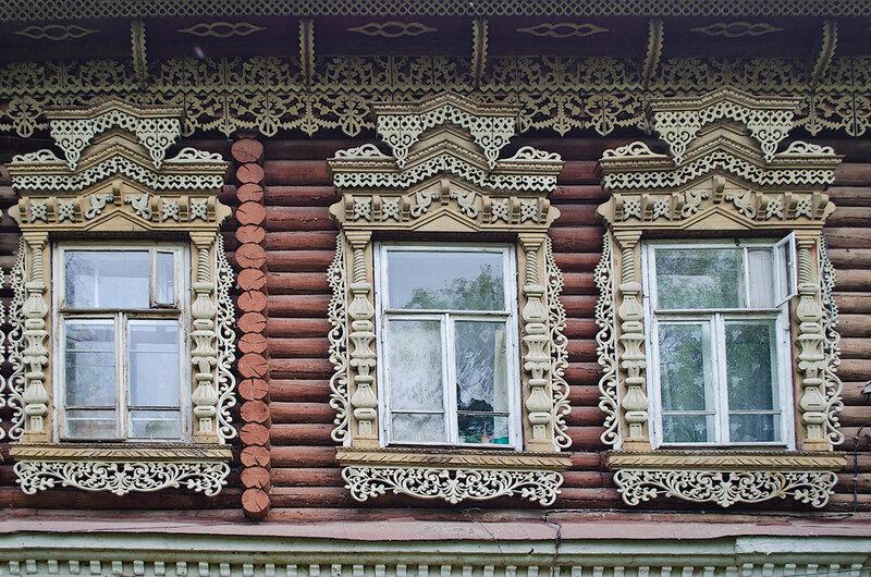 Прогулка по Козьмодемьянску, деревянное узорочье