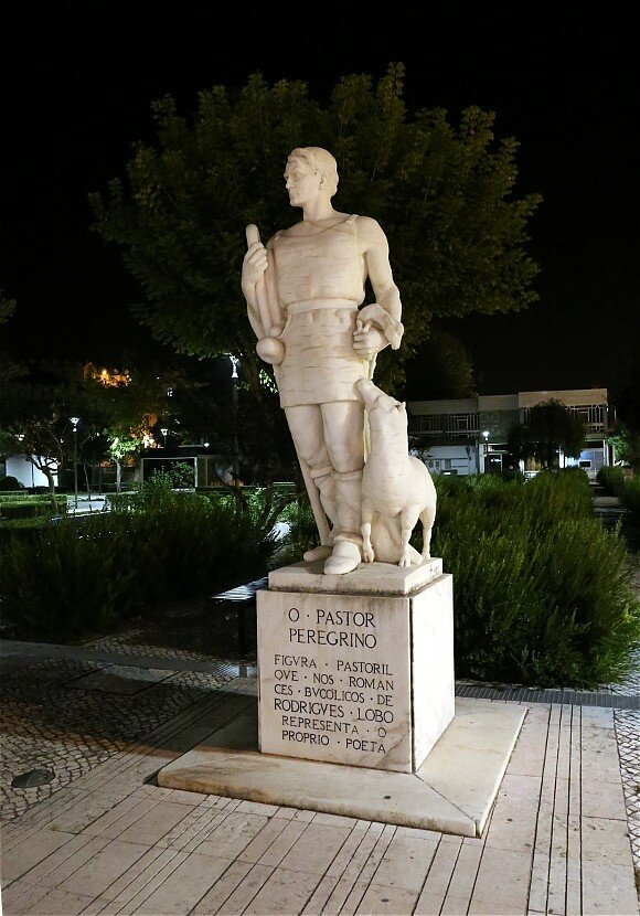 Leiria. The monument to the Preacher-pilgrim (Peregrino Pastor)