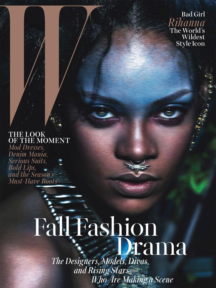 Рианна в журнале W Magazine (7 фото)
