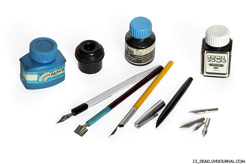 3. Какое-то время мы писали чернилами: сначала перьевыми ручками, которые макали в чернильницы-непро