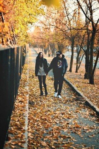 Идеи осенней фотосессии - Осенняя прогулка в двоем