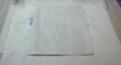 Роспись ткани с элементами вышивки