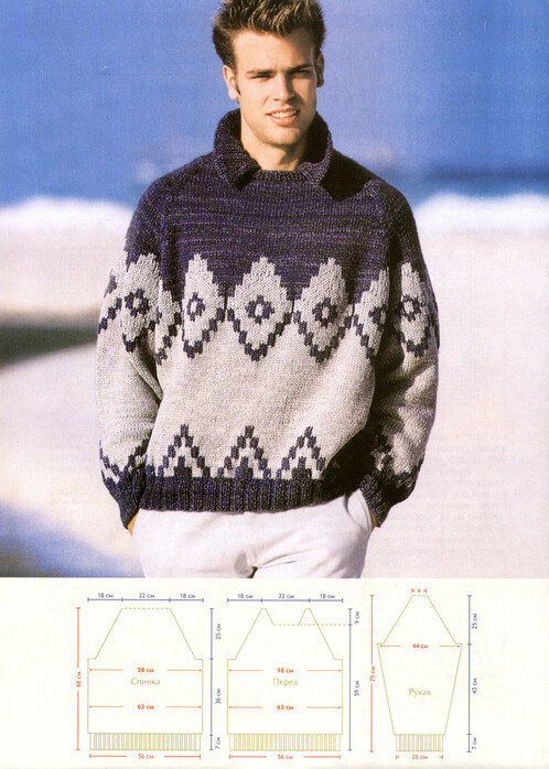 Вязание для мужчин.