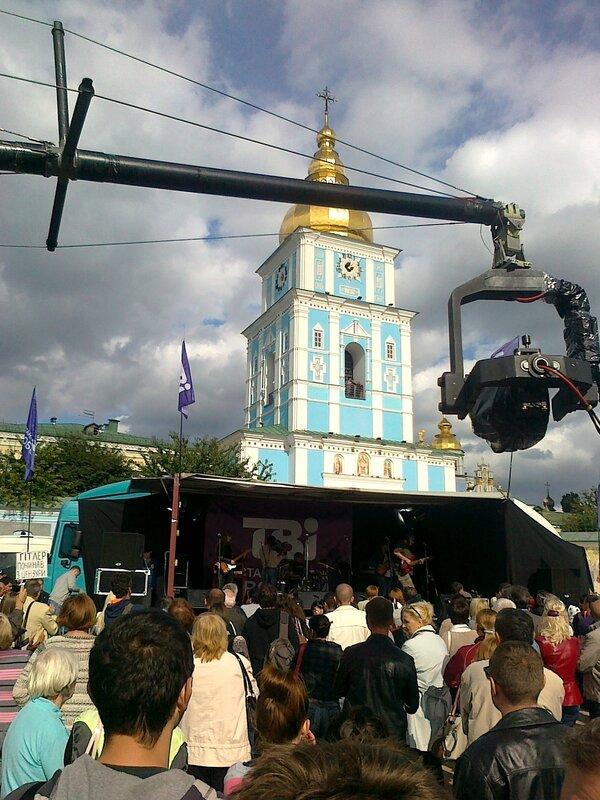 Митинг на Михайловской площади в поддержку ТВi