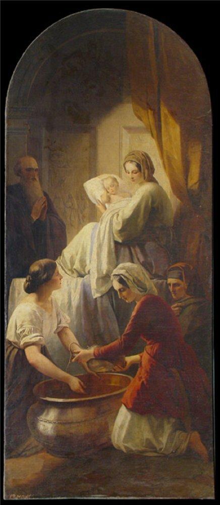 Т.А.Нефф (1805-1875). Рождество Богородицы. 1846-1848. В нише северо-восточной стены Исаакиевского собора.