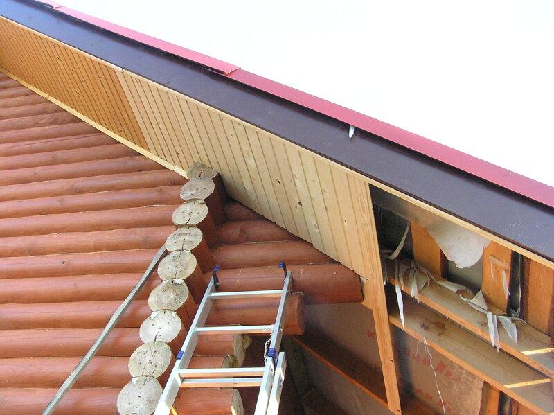 Как сделать подбой крыши вагонкой