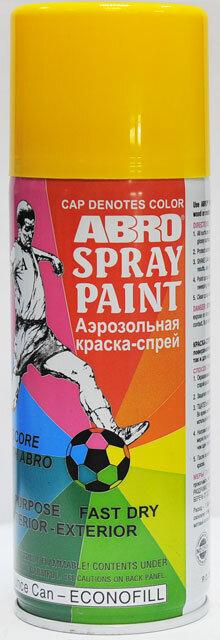 Краска спрей желтая А-053 Abro