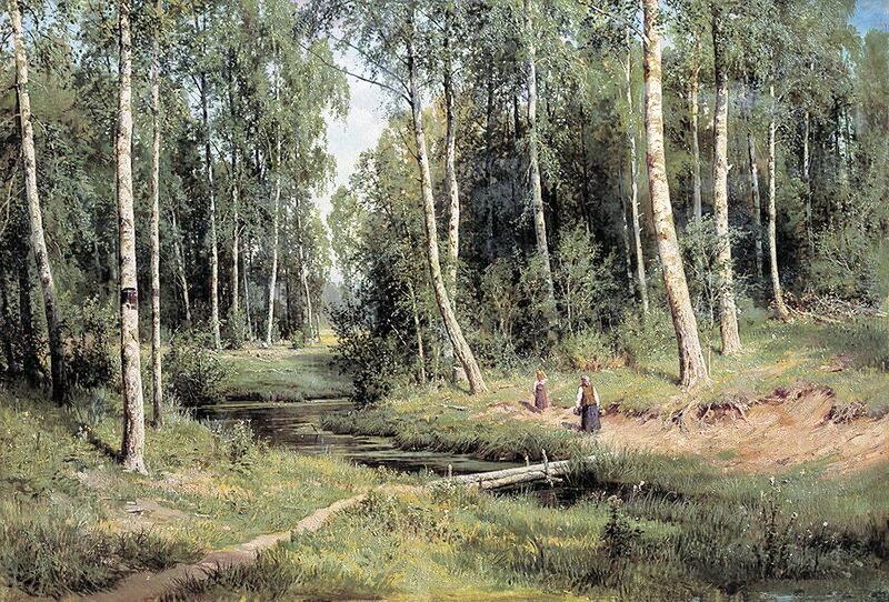 Ручей в берёзовом лесу. 1883 г. И.И. Шишкин.jpg