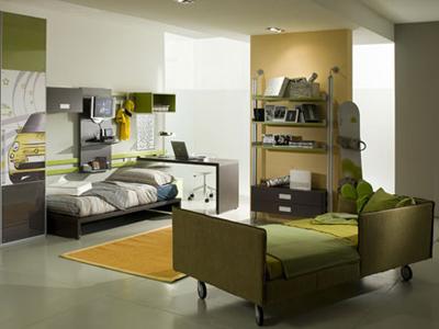 Стильная комната для мальчика-подростка.
